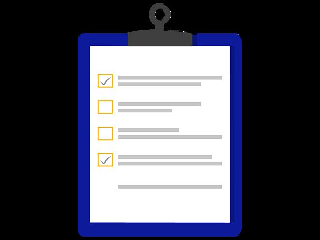 DWZ vector clipboard checklist