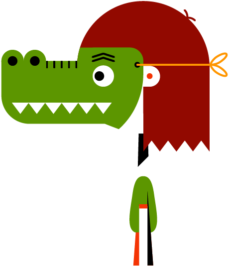 Masker krokodil trans crop links