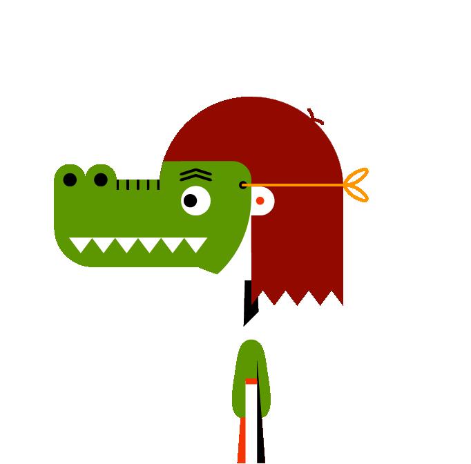 Masker krokodil trans links